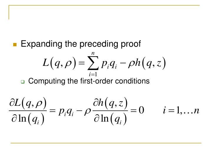 Expanding the preceding proof