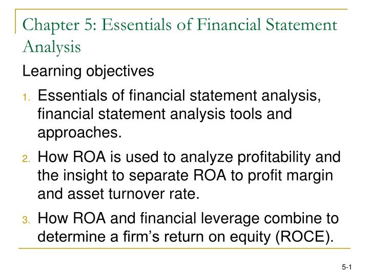 chapter 5 essentials of financial statement analysis n.