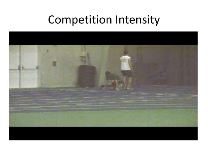 Competition Intensity