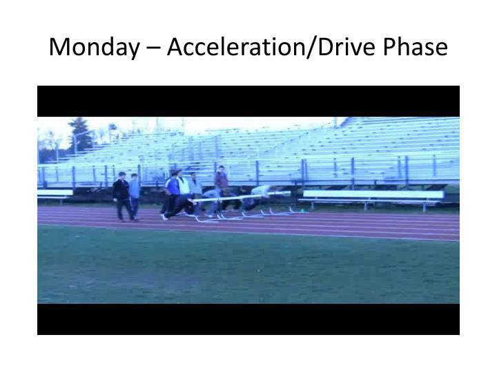 Monday – Acceleration/Drive Phase