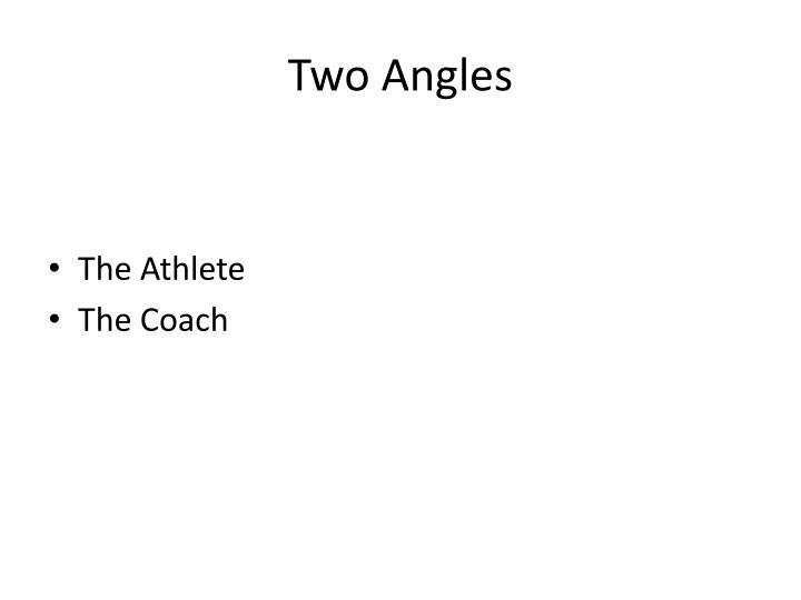 Two angles