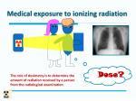 medical exposure to ionizing radiation1