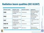 radiation beam qualities iec 61267