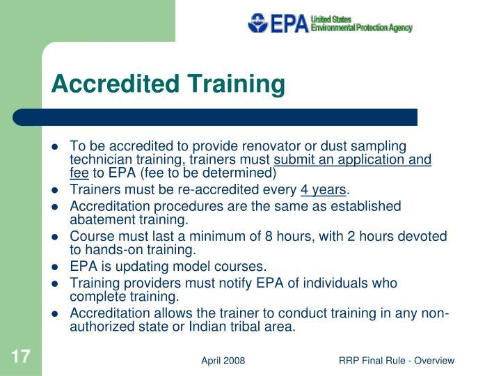 Accredited Training