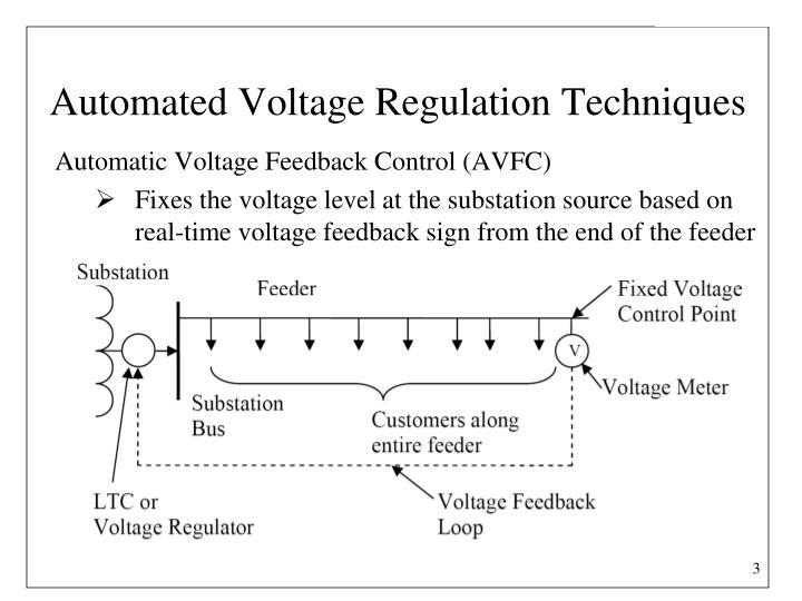 Automated voltage regulation techniques
