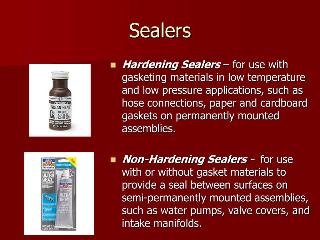 PPT - Fasteners, Gaskets, Seals, & Sealants PowerPoint Presentation