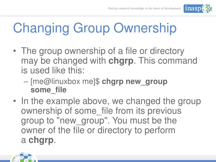 Changing Group Ownership