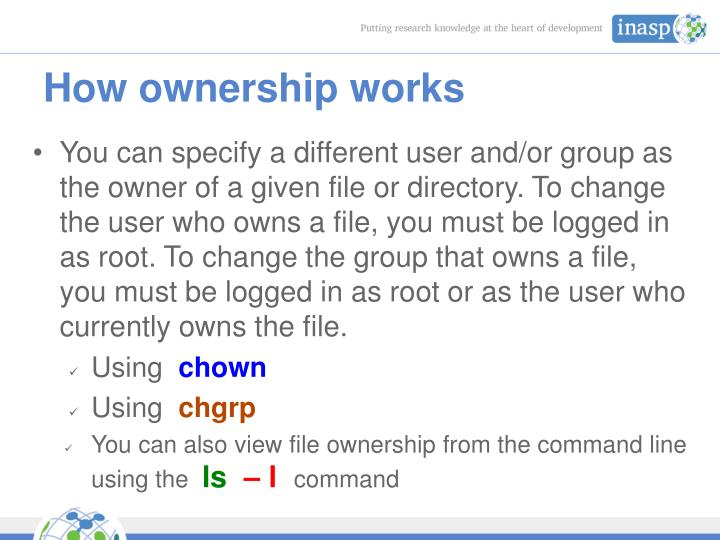 How ownership