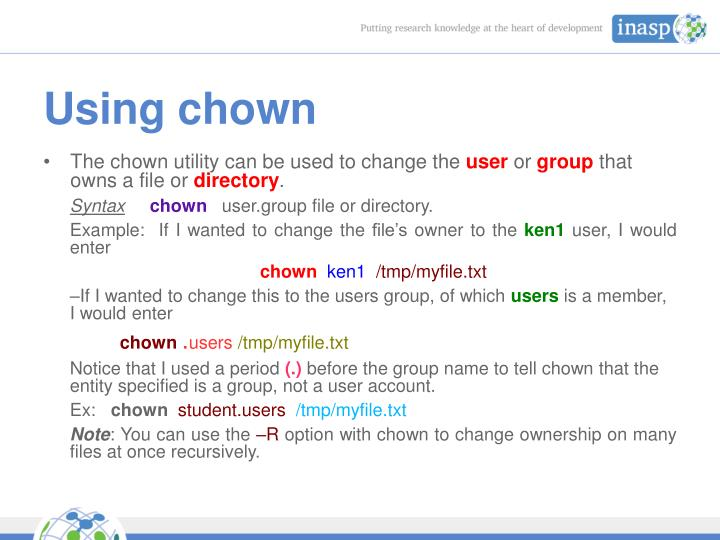 Using chown