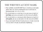 the written accent mark