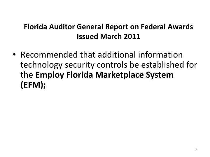 Florida Auditor General Report