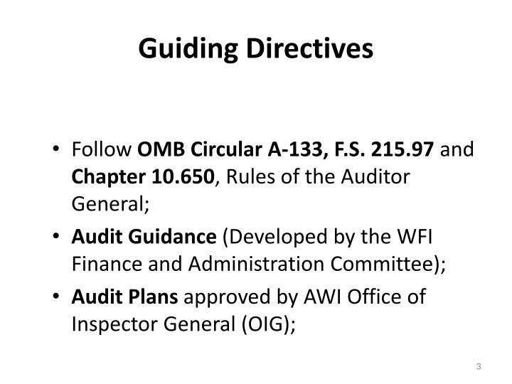 Guiding directives