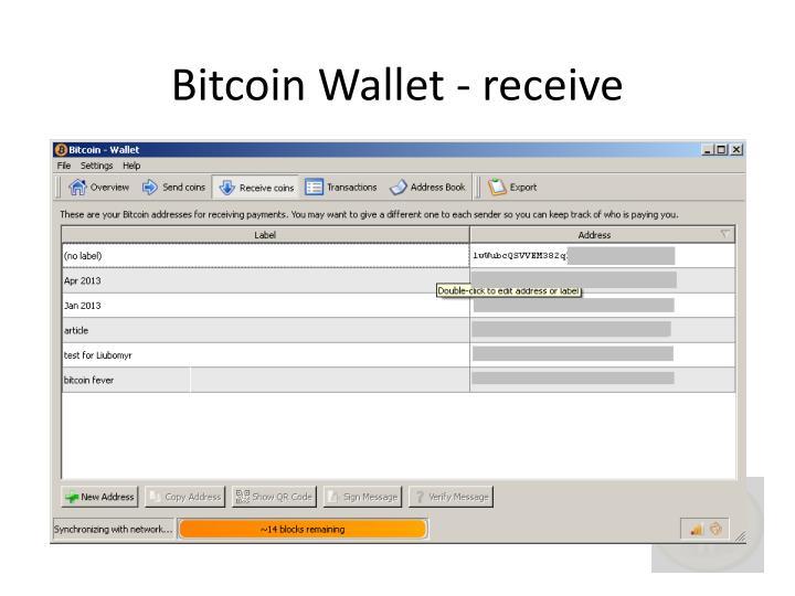 Bitcoin wallet receive