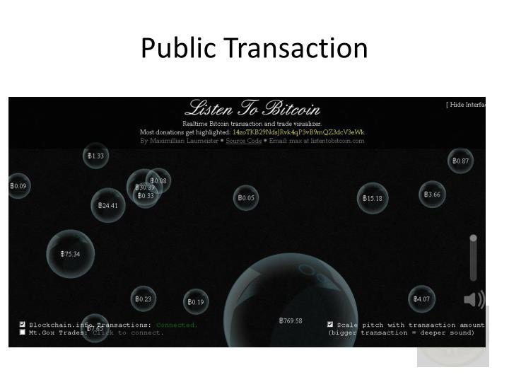 Public Transaction