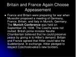 britain and france again choose appeasement