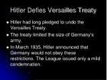 hitler defies versailles treaty