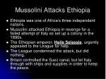 mussolini attacks ethiopia