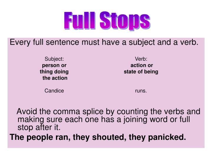 Full Stops