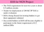 eoi for ngn project