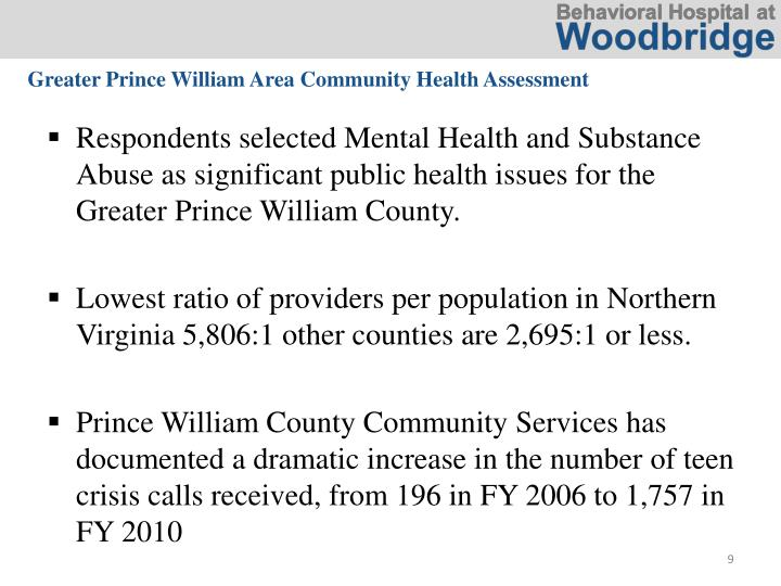 Greater Prince William Area Community Health Assessment