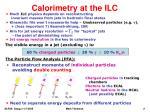 calorimetry at the ilc