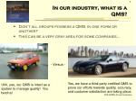 in our industry what is a qms2