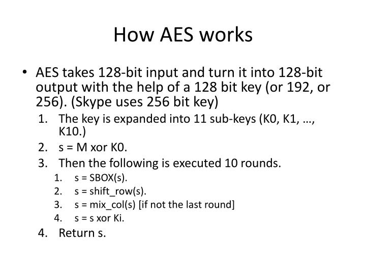How AES works