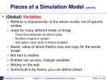 pieces of a simulation model cont d1