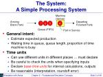 the system a simple processing system