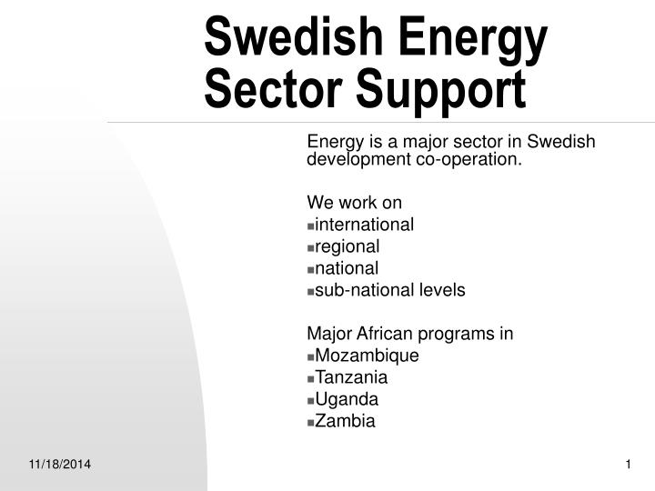 swedish energy sector support n.