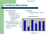 caulking wall joints