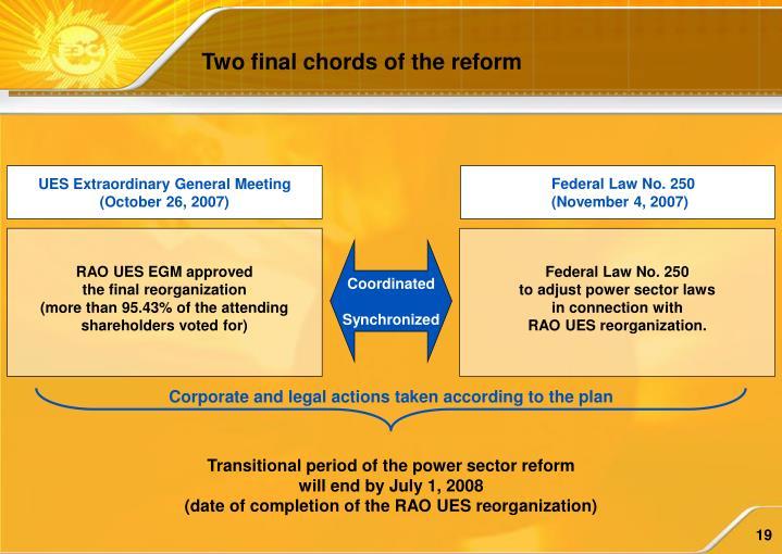 UES Extraordinary General Meeting