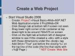 create a web project