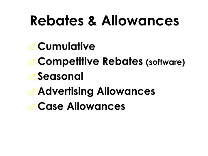 Rebates & Allowances