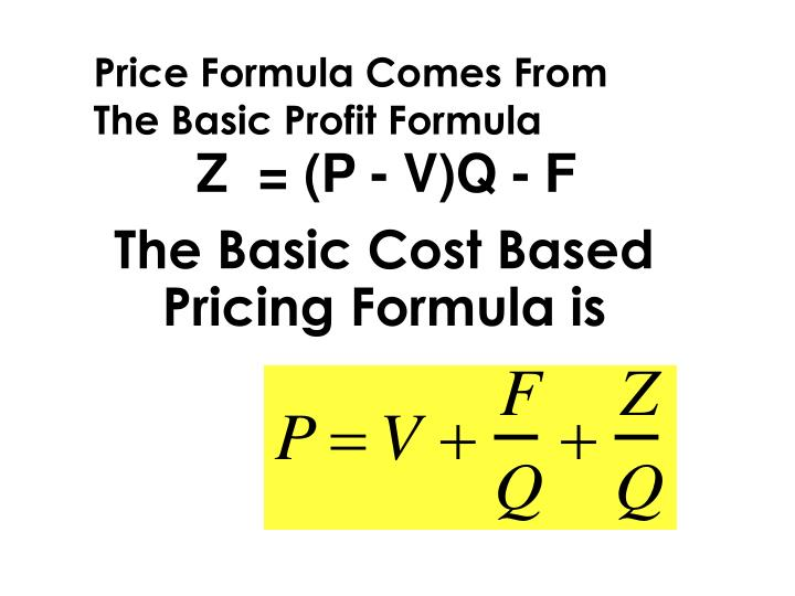 The Basic Cost Based