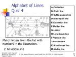 alphabet of lines quiz 41