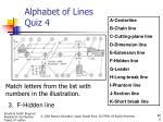 alphabet of lines quiz 42