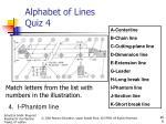 alphabet of lines quiz 43