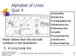 alphabet of lines quiz 44