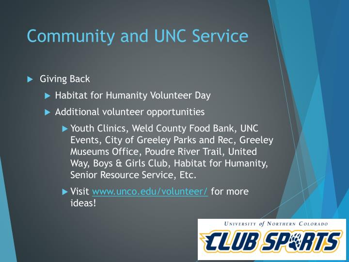 Community and UNC Service