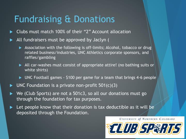 Fundraising & Donations