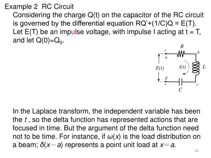 Example 2  RC Circuit