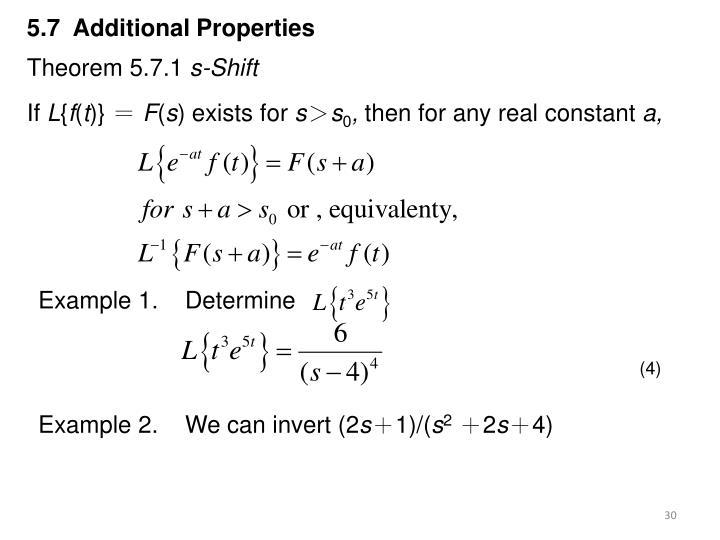 5.7  Additional Properties