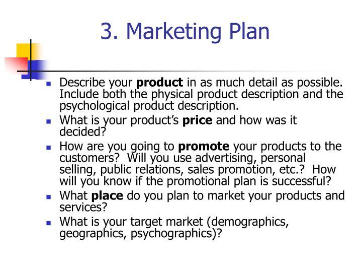 3. Marketing Plan