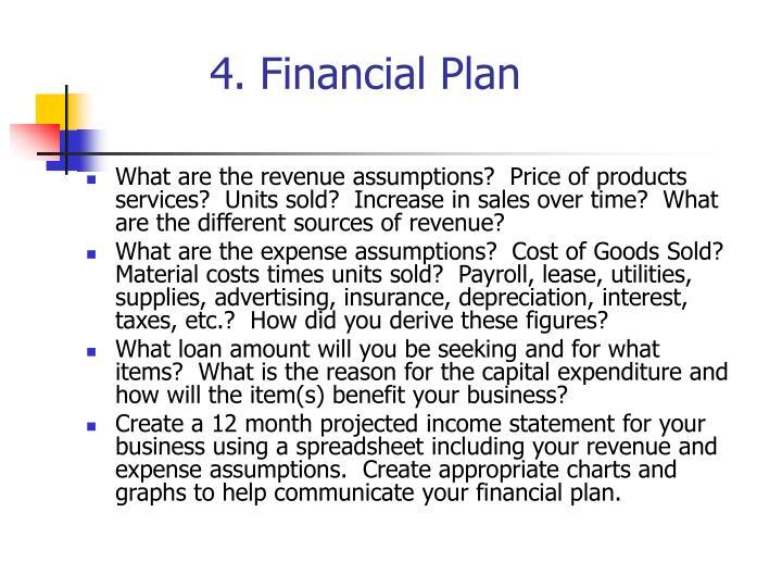 4. Financial Plan