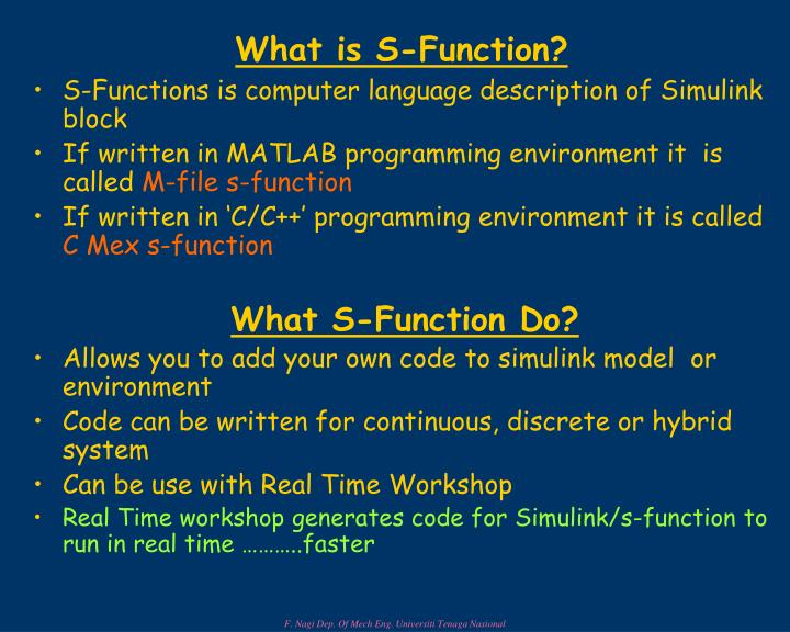 PPT - What is S-Function? PowerPoint Presentation - ID:6771895