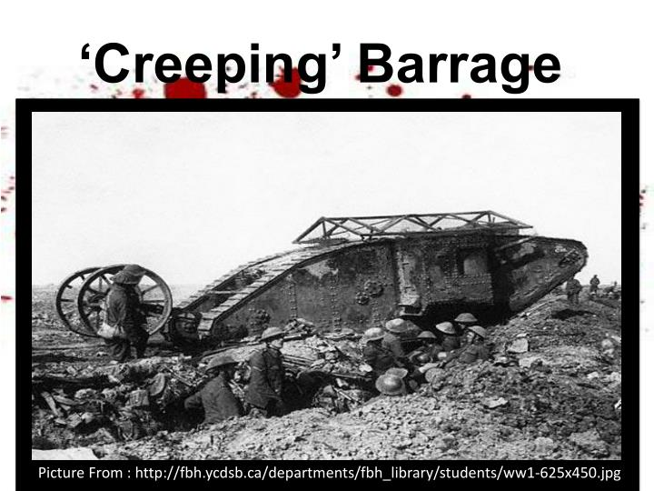 'Creeping' Barrage