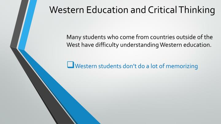 Western education and critical thinking2