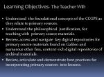 learning objectives the teacher will