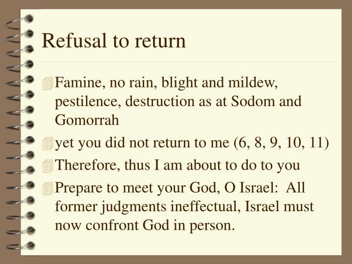 Refusal to return